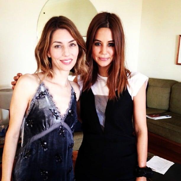 Christine Centenera — Vogue Australia's fashion director — posed with the mag's current cover girl, Sofia Coppola. Source: Instagram user centenera