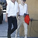 Gwen Stefani and Gavin Rossdale were hand in hand for a date night in LA.