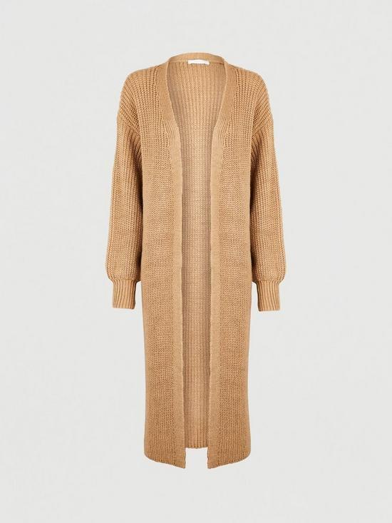Michelle Keegan Slouchy Fit Longline Knit Cardigan
