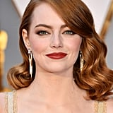 Emma Stone's Red Waves in 2017