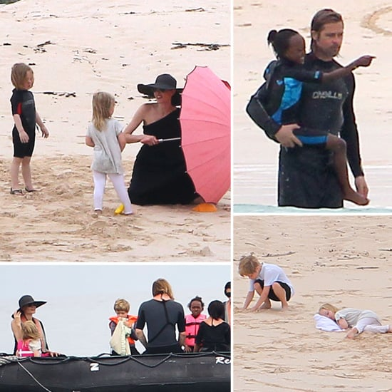 Jolie-Pitt Family Beach Day in Galapagos — See Tons of Pictures!