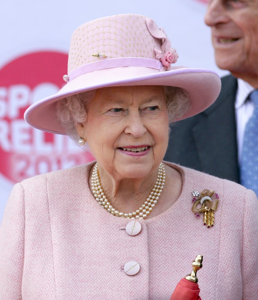 The Queen looked pretty in pink.