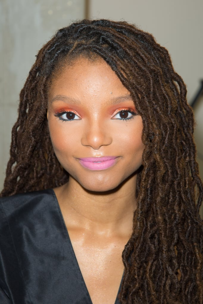 Halle Bailey in Colorful Makeup