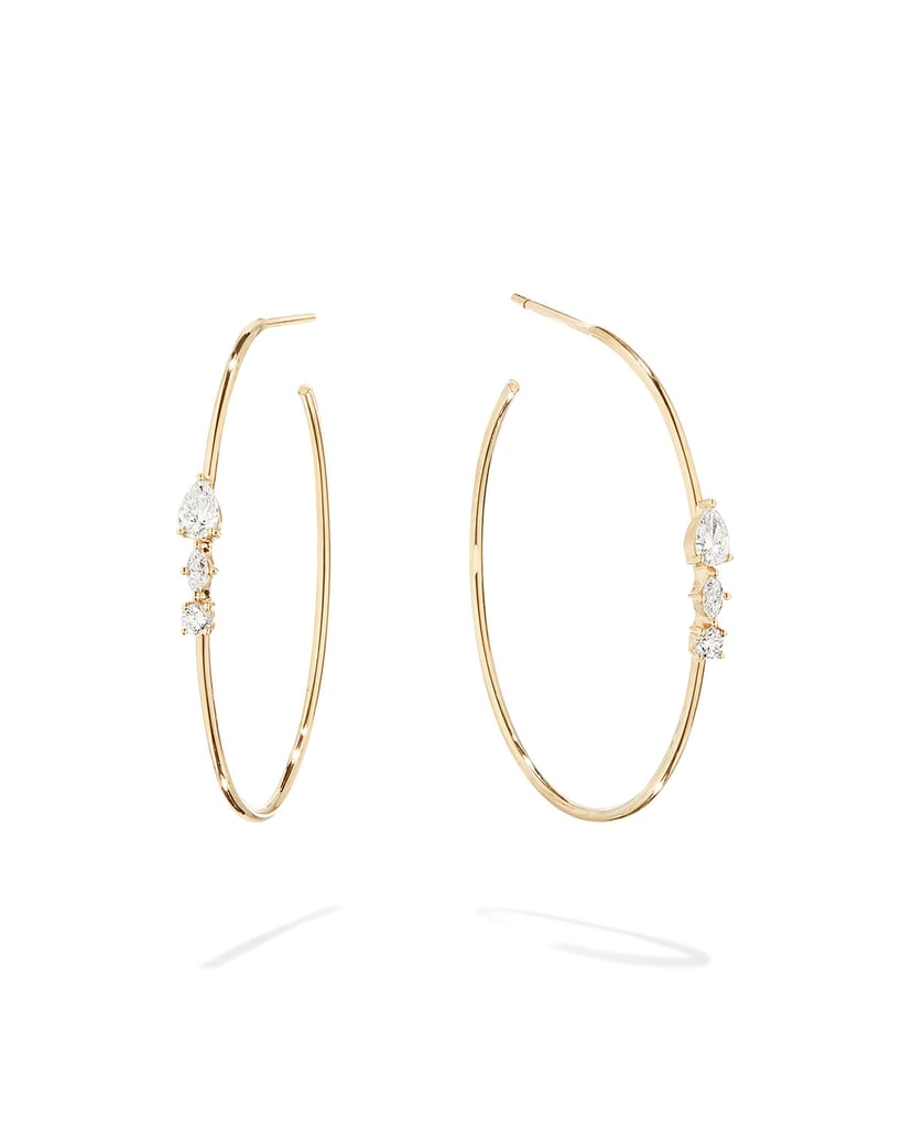 Lana Magic Gold Diamond Cluster Hoop Earrings