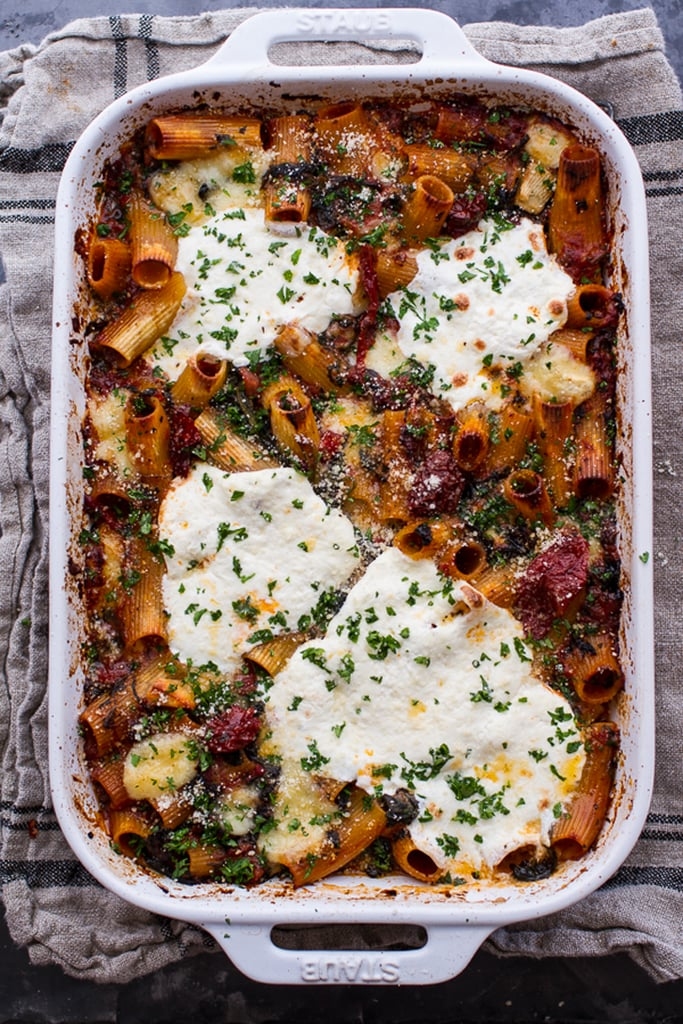Four-Cheese Sun-Dried Tomato and Spinach Pasta Bake