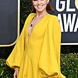 Zoey Deutch Stunned in a Fendi Jumpsuit at the Golden Globes