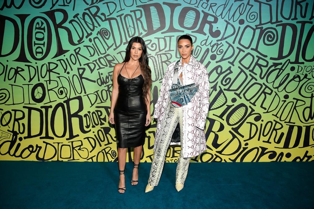 Kim Kardashian at the Dior Men's Fall 2020 Runway Show