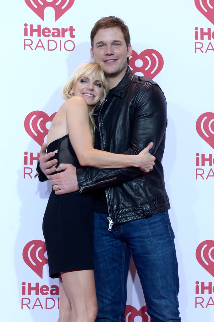 Cute couple Anna Faris and Chris Pratt were all smiles at the  iHeartRadio Music Festival in September 2014.