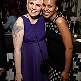 Lena Dunham met up with Kerry Washington at Variety's bash on Saturday.