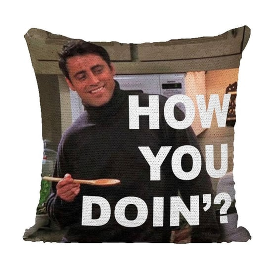 Joey From Friends Sequin Pillow