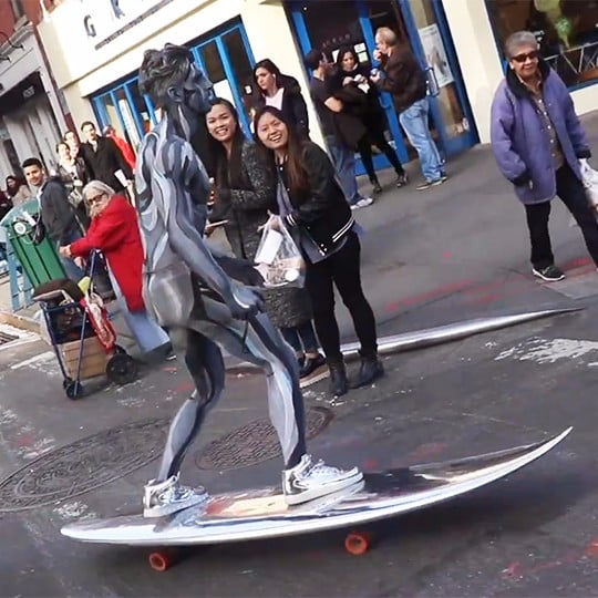 New York City Silver Surfer Halloween Costume 2016