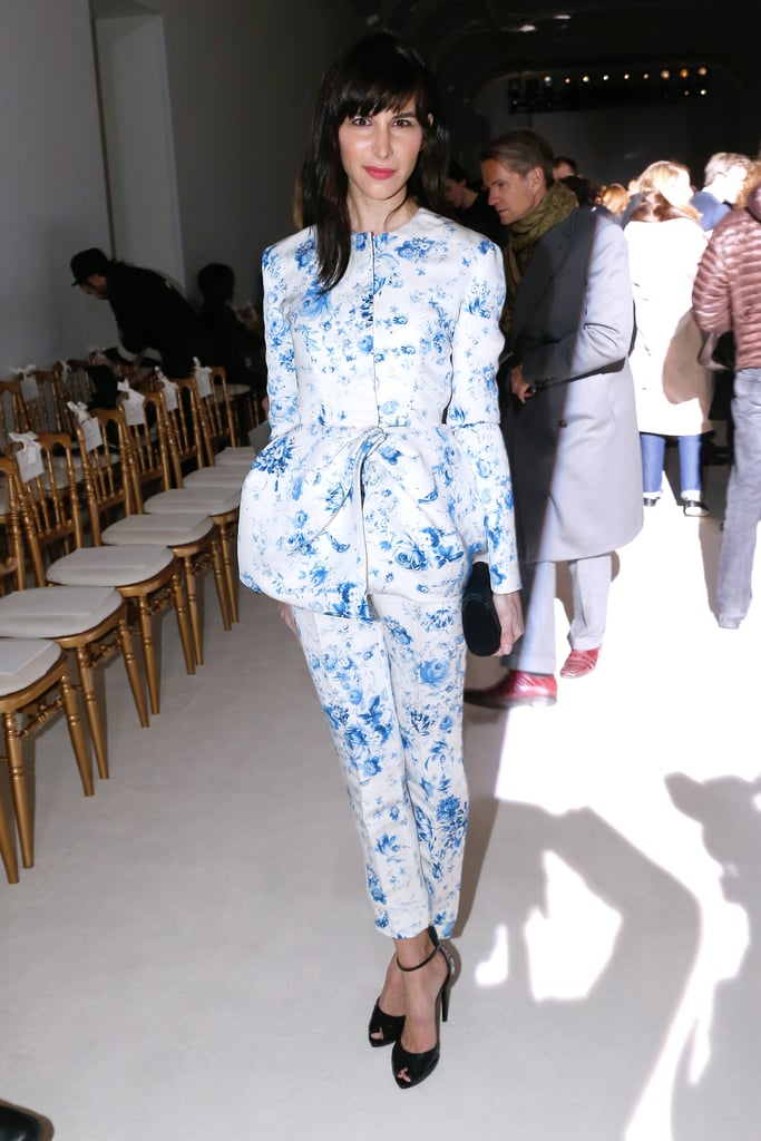 Caroline Sieber at the Giambattista Valli Paris Haute Couture show.