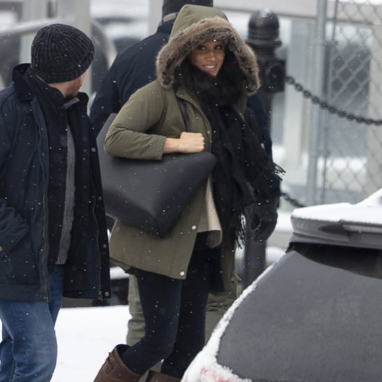 Meghan Markle Carried a Black Cuyana Tote Bag in Canada