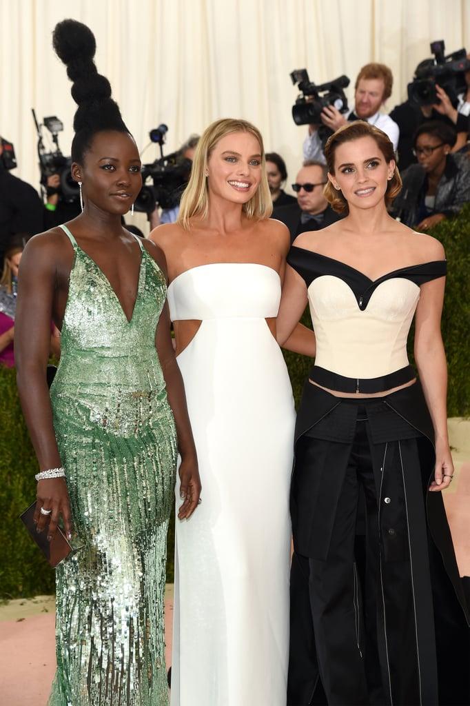 Lupita Nyong'o, Margot Robbie, and Emma Watson — 2016