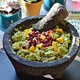 Guacamole With Fresh Mango and Pomegranate