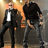 Pitbull and Enrique Iglesias at the 2010 American Music Awards