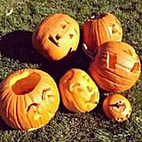 Victoria Beckham carved pumpkins with her kids. Source: Instagram user victoriabeckham