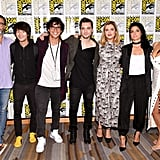 Pictured: Producer Jason Rothenberg, Christopher Larkin, Bob Morley, Richard Harmon, Eliza Taylor, Marie Avgeropoulos, and Lindsey Morgan.