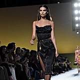 And now, it's a BIG deal to be included on the runway. Even Emily Ratajkowski walked for Spring 2019 in a slinky LBD. And, Kaia Gerber is following in her mom's footsteps with Versace appearances, too.
