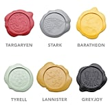Set of 6 Wax Seal House Sigil Coasters ($20)