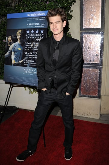 Pictures of Andrew Garfield at The Social Network DVD Party