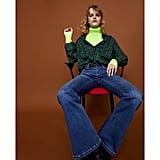 Zara Skinny Jeans Flare in Stilla Island Blue
