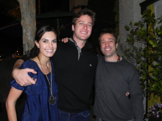 Pictures of Armie Hammer and His Wife Elizabeth Chambers Posing With a Fan Outside an LA Restaurant