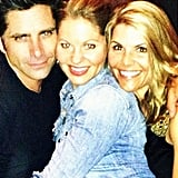"""Lori: """"Love spending time with @johnstamos @candacecbure #family"""""""