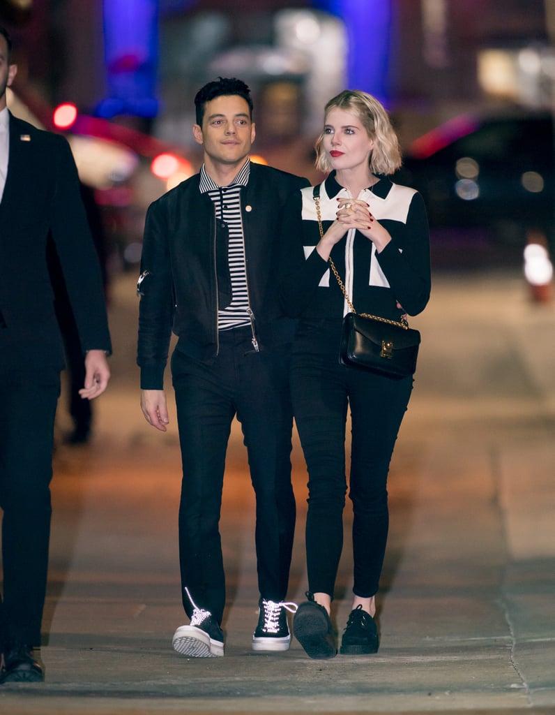Rami Malek and Lucy Boynton Matching Outfits January 2019