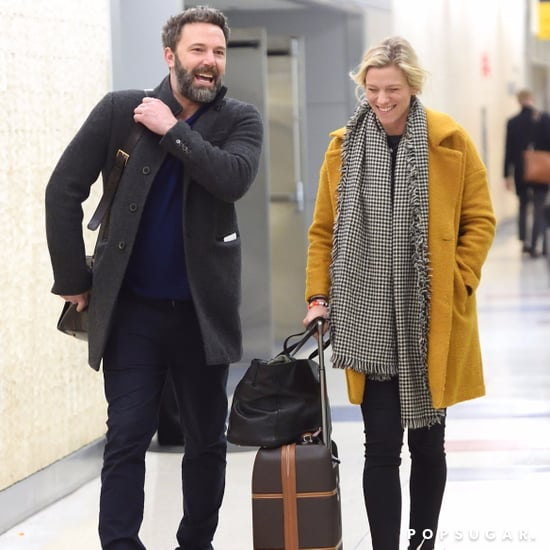 Ben Affleck and Lindsay Shookus at JFK Airport Nov. 2017
