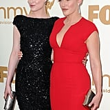 Kate Winslet and Evan Rachel Wood at the Emmys.