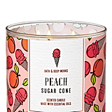 Bath and Body Works Peach Sugar Cone 3-Wick Candle