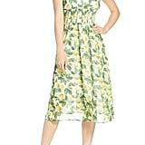 Sam Edelman Lemon Print Chiffon Sundress