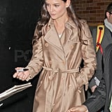 Katie Holmes left the studio and signed autographs.