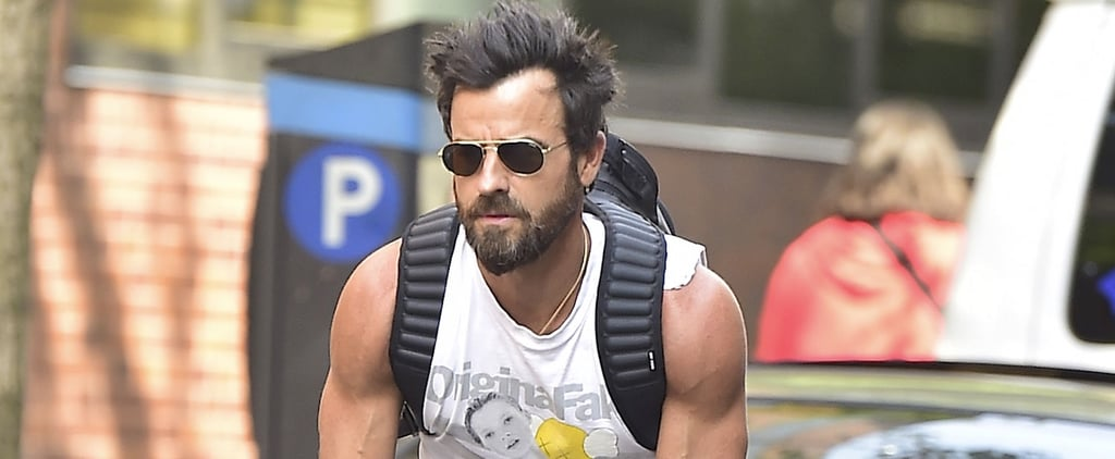 Justin Theroux Gives You Yet Another Reason to Be Jealous of Jennifer Aniston While Flaunting His Biceps in NYC