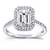 Le Lourve Emereld Cut Engagement Ring
