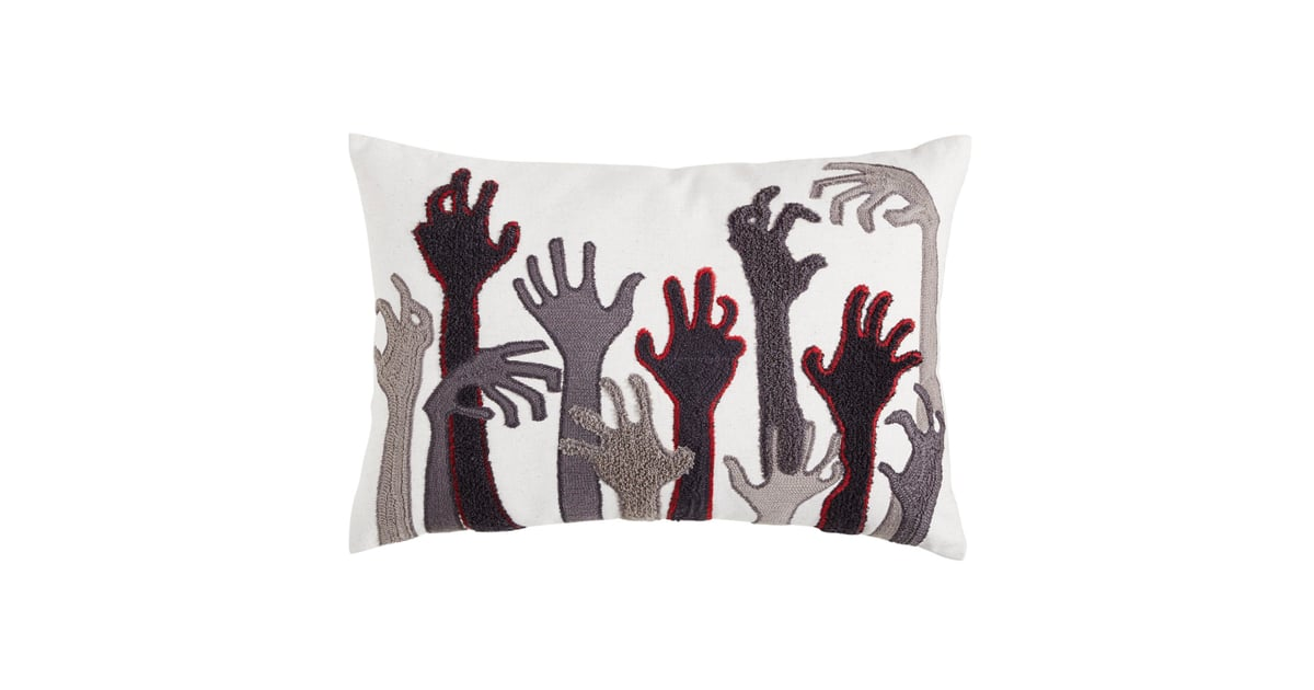 Zombie Hands Lumbar Pillow Best Pier 1 Halloween Decor