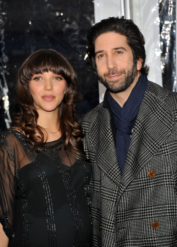 Zoe Buckman and David Schwimmer