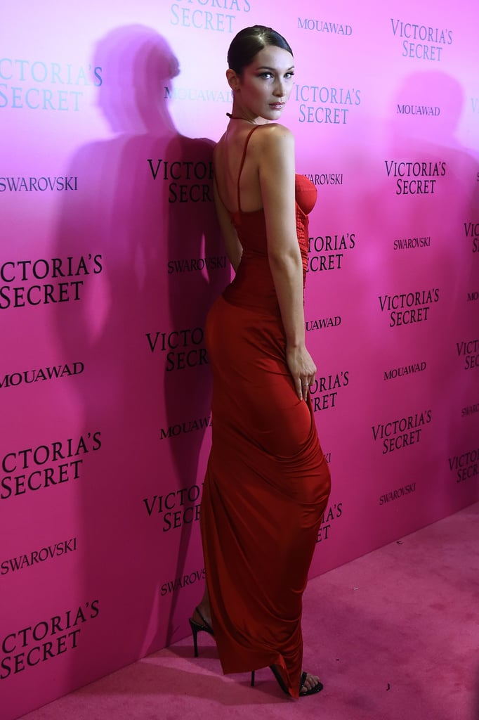 Bella Hadid Looks Like a Total Babe in Her Sexy, Red Dress at the Victoria's Secret Fashion After Party
