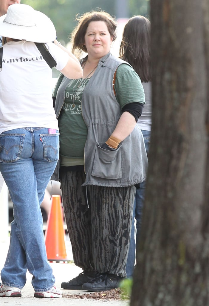 Melissa McCarthy was on the set of The Heat.