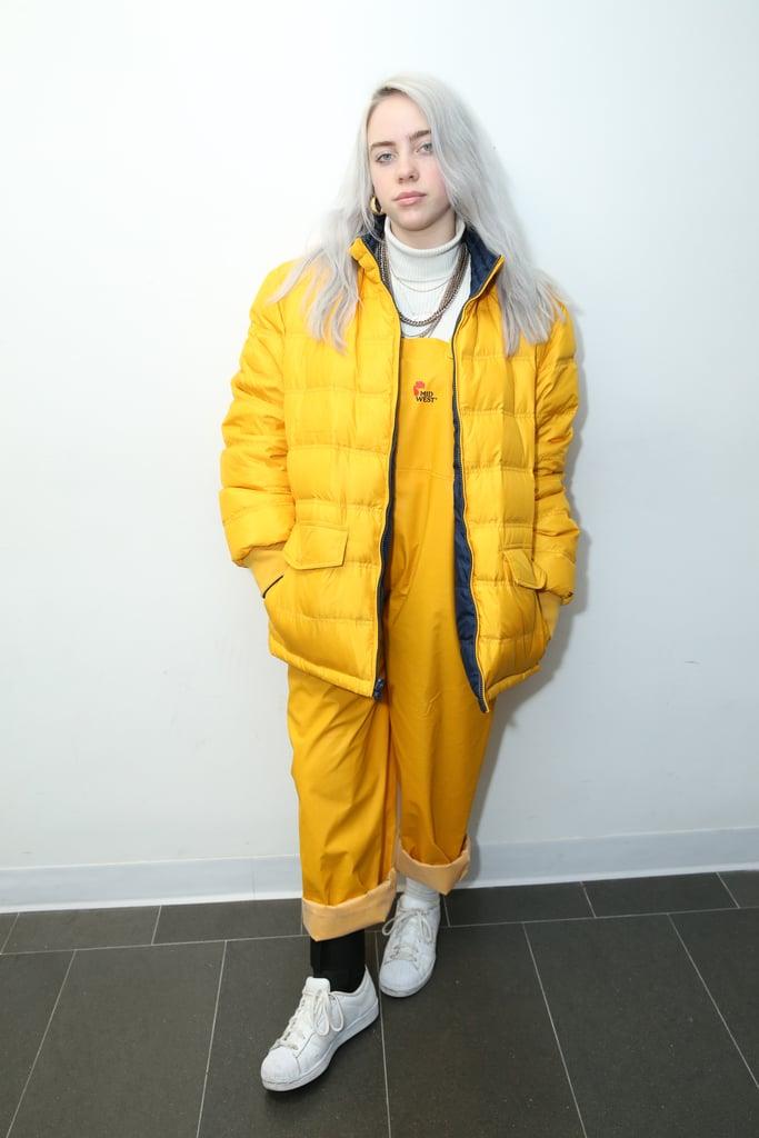 Billie Eilish's Reversible Puffer Coat