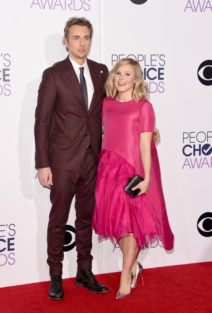 Kristen Bell is a new mum of two, but you wouldn't know it from her stunning red carpet appearance alongside her husband, Dax Shepard, at the People's Choice Awards in LA on Wednesday night. Kristen and Dax welcomed their second daughter, Delta, just last month and shared the exciting news on Twitter on Dec. 19. They had even more reason to celebrate after the New Year since Dax turned 40 on Jan. 2.  Tonight may bring additional excitement since Kristen is nominated for favourite cable TV actress and Dax is up for favourite dramatic TV actor. Check back for even more from the People's Choice Awards, and make sure to take a look at all the stars on the red carpet.