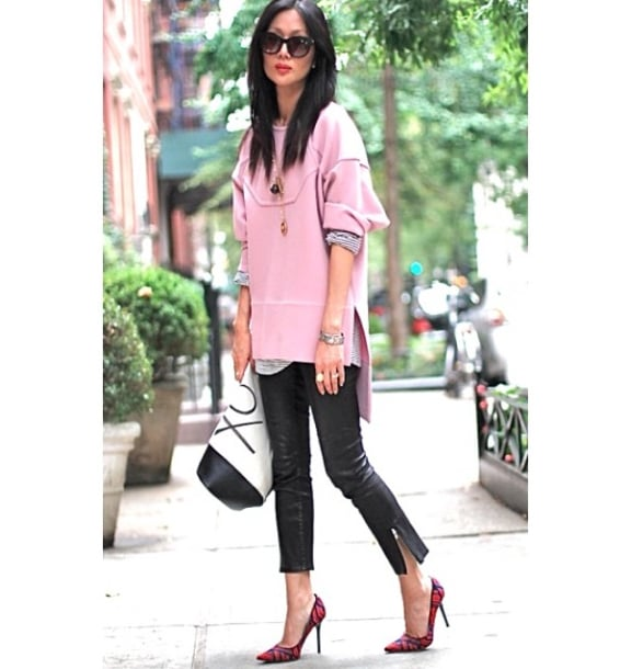 "We're not sure exactly what piece Marissa was referring to when she grammed this photo with the caption ""when my worlds collide. Pink w/ @marissawebbnyc XO w/ @bananarepublic #ootd #nyc #xomarissa,"" but we'd be happy if any part of her outfit were shoppable at Banana Republic. Source: Instagram user marissawebb"