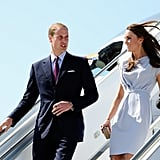 Prince William and Kate Middleton arrive in America.