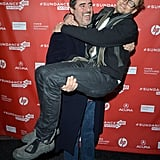 Alfred Molina carried Jimmi Simpson on the red carpet at the Sundance Film Festival on Friday.