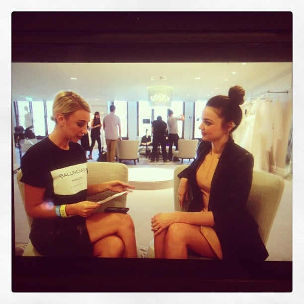 Alison sat down with supermodel Miranda Kerr to discuss all things fashion and beauty.