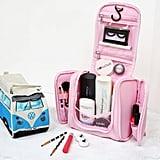 Create a travel cosmetic bag.