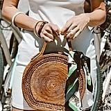 Risa Straw Circle Handbag