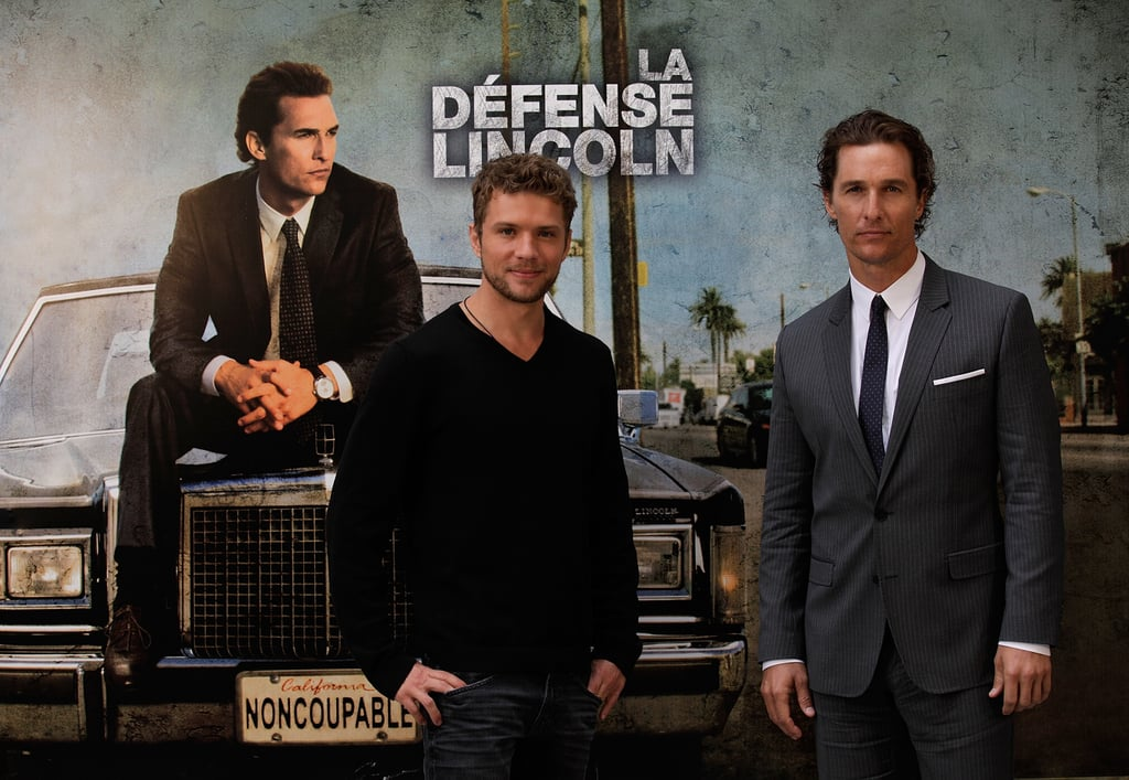 Matthew McConaughey and Ryan Phillippe brought The Lincoln Lawyer overseas today with a photocall in Paris. The costars first debuted their entertaining legal thriller stateside with a world premiere in LA last month. Ryan's real-life leading lady, Amanda Seyfried, didn't join him on the red carpet, but she did come along with MM and Ryan to France this weekend. The couple made time for some romance in the City of Lights before Ryan got back to business today. Matthew is traveling solo while Camila takes care of their kids at home, though she did come along to the East Coast a few weeks ago as he made the morning-show rounds.