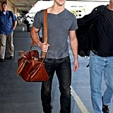 Pictures of Tyalor Lautner at LAX